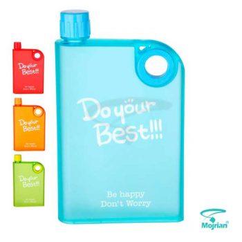 بطری آب مات رنگی